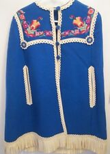 Hungary Hungarian Girl's Vint XLC wool felt cloak ethnic traditional embroidery