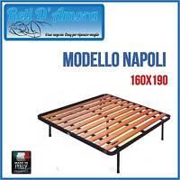 RETE A DOGHE VERTICALI 160X190cm MATRIMONIALE TAGLIE FORTISSIM 5PIEDI ORTOPEDICA