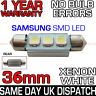 36mm 239 272 C5W CANBUS NO ERROR WHITE NUMBER PLATE LIGHT BULB SAMSUNG 3 SMD LED