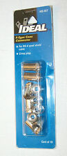 IDEAL F-TYPE COAX CONNECTOR RG-6~NEW IN PKG, LOT OF 3 PKGS,TOTAL QTY 23