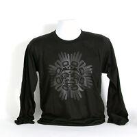 Black Northwest Coast Native Long Sleeve Shirt American Apparel Haida Design