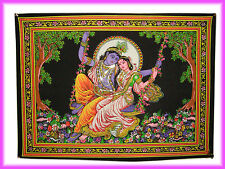 Lord Krishna Rada Vintage room Decor Bohemian Poster Wall Hanging Love Tapestry