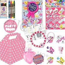 Le Ragazze partito pieno scatole a tema per bambini Fata rosa party Supplies Ready Made