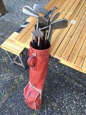 Lot de 13 crosses golfe clubs golf irons set VINTAGE (Spalding, Lillywhites)