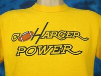 vintage 80s SAN DIEGO CHARGERS POWER T-Shirt MEDIUM football nfl california soft