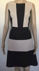 New Cover Dress A-Line Ladies Size 12 Black Beige Stretch Party Corporate