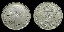 Belgium - 5 Francs 1868 Leopold II ~ silver