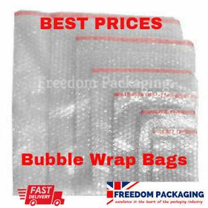 BUBBLE WRAP BAGS CUSHION POUCHES PROTECTIVE JIFFY ENVELOPES self seal