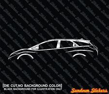 2X Car silhouette stickers - for Honda Civic Tourer (9th gen; 2014-) wagon