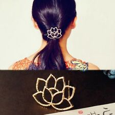 Retro Women Jewelry Lotus Flower Hair Clip Water Barrette Hairpin Accessories