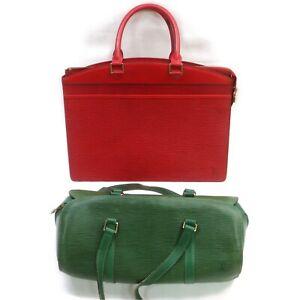 Louis Vuitton Epi Hand Bag Brief Case 2 pieces set 518587