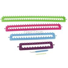 Rectangle Knitting Loom Set 6 Pieces Pick & Sewing Needle Craft Sock Scarves