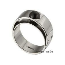 Black Onyx Wedding Band Engagement Titanium Ring Men Fashion Jewerly 7mm Sz9