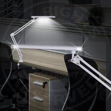 Mia a1871n LED Escritorio Lámpara con pinza 1x Focos/ metal, Plata