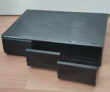 Vintage Wooden Black Ash Effect 3 Drawer Cassette Storage Box Unit Hold 36 Tapes