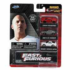"""Jada Toys Nano Hollywood Rides: 1.65"""" Fast & Furious Collector's Series 3-Pack"""