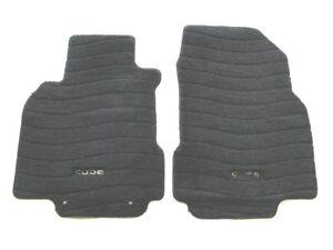 09 10 11 12 13 14 NISSAN CUBE BLACK CARPET FLOOR MATS RUGS OEM USED FRONT SET #1