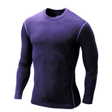 Men Thermal Compression Skin Base Layer T-Shirt Long Sleeve Top Tight Sport Wear
