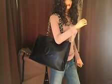 Authentic Chanel Black Lambskin Leather Gold Chain Shoulder Handbag