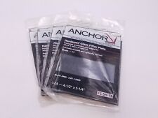 """4 Pcs Anchor FS-5H-13 Filter Plate Hardened Glass 4-1/2"""" x 5-1/4"""" Shade 13 NOS"""