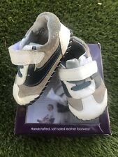Pediped 6-12 Months Baby Shoes Soft Soles Cliff White Blue