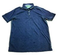 Tommy Bahama Jeans Mens Blue Short Sleeve Polo Shirt Size Small