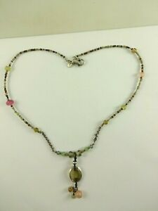"""Sterling Silver Silpada Nice Beaded Lariat Necklace 17"""""""