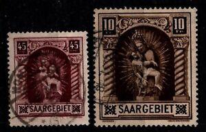 SARRE : Statues n°101 + 102, Oblitérés = Cote 42 € / Lot Timbres COLONIES