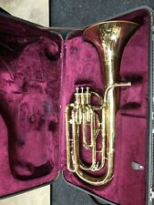 """Besson 757 8.25"""" Upright Bell Brass Band Baritone Horn, Serviced & Ready #SBH01"""