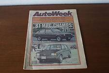 AutoWeek Newspaper November 24 1980 Toyota Starlet VW Rabbit Diesel