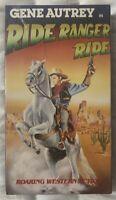 Ride Ranger Ride VHS Gene Autry, Smiley Burnette, Kay Hughes Classic Western New