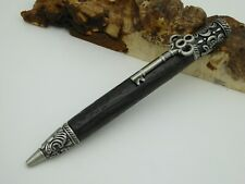 Schreibgerät-Kugelschreiber  Skeleton Key Twist Pen Antik Zinn, Mooreiche