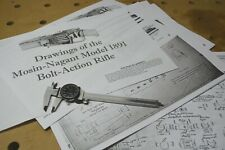 Mosin-Nagant 1891 M91 30 Drawings Blueprints!