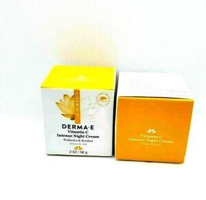 (2) DERMA E Vitamin C Intense Night Cream - 2oz Cream- Probiotics Rooibos 56g