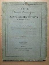 BLANDIN : ATLAS D'ANATOMIE TOPOGRAPHIQUE, 1834. 20 planches lithographiées