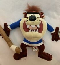 "Vintage Looney Tunes Tazmanian Devil Hockey Plush Doll Stuffed Animal WB Taz 11"""