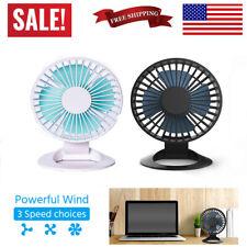 Mini USB Desk Fan Strong Airflow 3 Speeds Desktop Office Whisper Quiet Fan USA