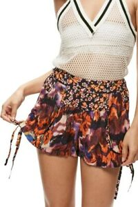 Free People Womens Lisbon Soft OB578304 Shorts Slim Orange Size XS