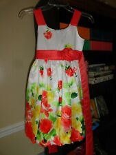 Little Girls Bonnie Jean Formal/Spring Floral Dress Size 8