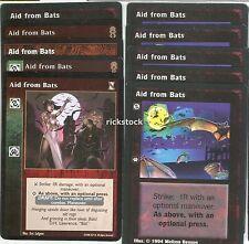 Aid from Bats x10 KoT AE CE VTES Jyhad Lot A