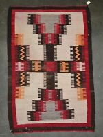 "Navajo rug;  Modified Storm Pattern - c. 1930 60"" x 40"""