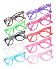 Kids Childrens Costume Glasses Fancy Dress Up Boys Girls Fake Clear Nerd Geek