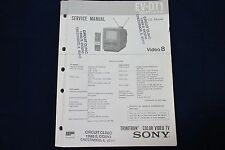Original Sony EV-DT1 Video 8 Combo Trinitron Color Video TV Service Manual
