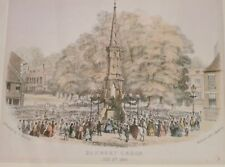'Banbury Cross July 3rd 1860' Hand Coloured Engraving Published by G. Walford