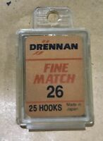 Drennan Micro Barbed Fine Match Spade End Hooks Boxes of 25.  Free P&P