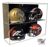 ACRYLIC WALL MOUNT FOOTBALL 4 Mini Helmet DISPLAY CASE UV HOLDER GameDay Display