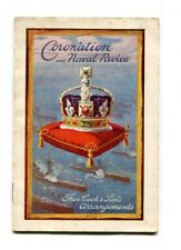 Vintage Program CORONATION & NAVAL REVIEW 1911 King George V Ship Sailings
