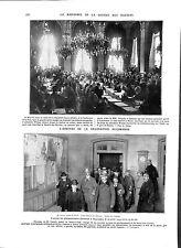 WWI Traité Paix Paris Société des Nations SDN League of Nations B ILLUSTRATION