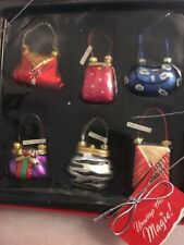 Home Collection Ornaments Purses Eve Bags  Qty 6 Hand-painted Boutique Holiday