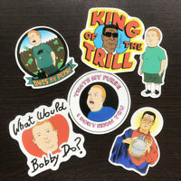 6Pcs Vinyl King Of The Hill Stickers Graffiti Bobby and Hank KOTH DIY Car Decals